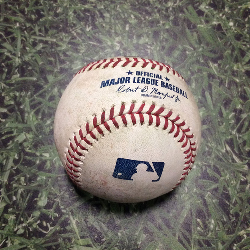 Photo of Game-Used Baseball STL@MIL 03/29/19 - Jack Flaherty - Ryan Braun: Single