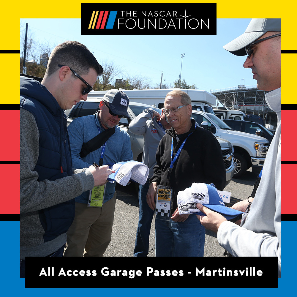 All Access Garage Passes at Martinsville benefitting The Paralyzed Veterans of America!!