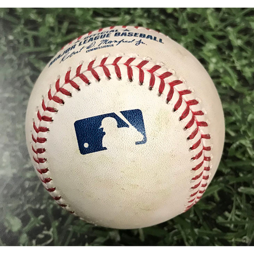 Photo of Game-Used Baseball CHC@MIL 07/28/19 - Jose Quintana - Christian Yelich: RBI Double