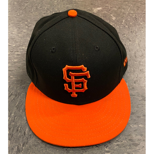 Photo of 2019 Holiday Sale - 2019 Game Used Orange Bill Cap used by #35 Brandon Crawford on 9/27 vs. Los Angeles Dodgers - Size 7 3/8
