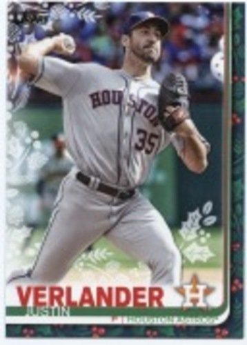 Photo of 2019 Topps Walmart Holiday Rare Photo Variations #HW129 Justin Verlander/Snowman in background