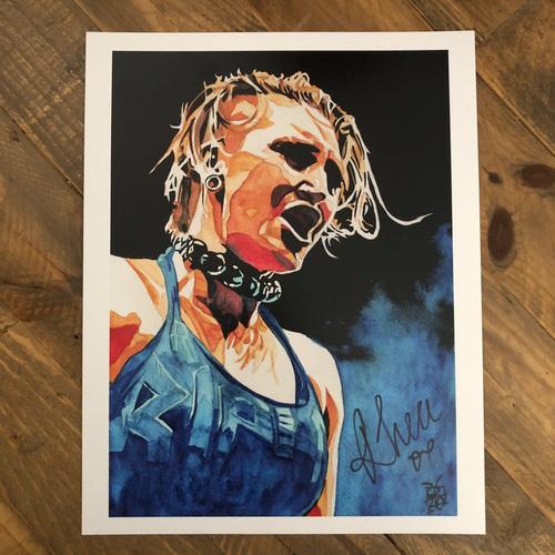 Rhea Ripley  SIGNED 11 x 14 Rob Schamberger Print