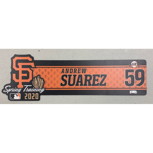 Photo of 2020 Spring Training Locker Tag - #59 Andrew Suarez