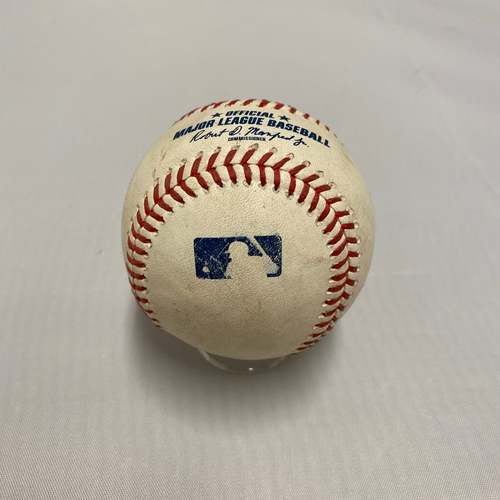 Photo of 2020 Gold Glove - J.P. Crawford 2020 Game Used Baseball used on 9/8 - T-2: J.P. Crawford Hits 3 RBI Double to LF (White, Torrens & Long Score)