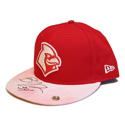 Photo of Ben Johnson Autographed Game-Worn Memphis Redbirds 2019 Mother's Day Hat