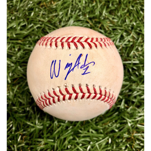 Photo of Rays Baseball Foundation: Game Used Autographed Baseball - Willy Adames MLB Debut - May 22, 2018 v BOS