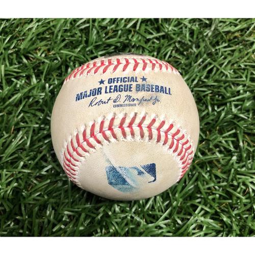 Photo of Game Used Baseball: Bobby Dalbec (Rookie Season) foul ball off Blake Snell - September 11, 2020 v BOS