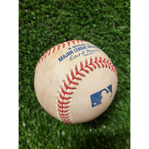Photo of Kyle Muller Pitched Strikeout Ball - Batter: Jazz Chisholm - Also pitched to Starling Marte - July 3, 2021