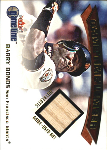 Photo of 2001 Fleer Game Time Lumber #4 Barry Bonds