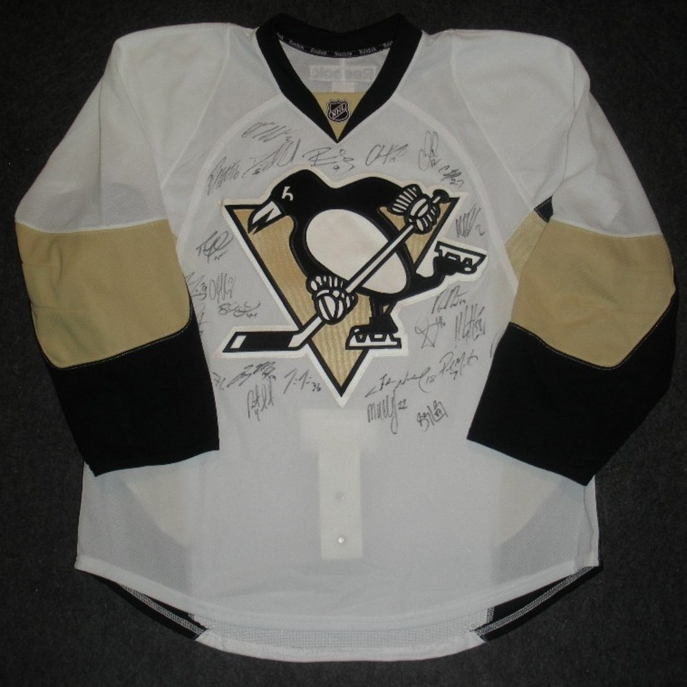 Jukka Nieminen Charity Auction - Pittsburgh Penguins - 2013-2014 Team Autographed Jersey
