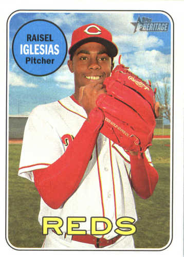 Photo of 2018 Topps Heritage #280 Raisel Iglesias