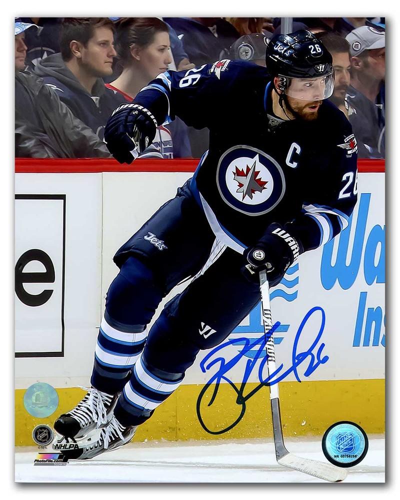 Blake Wheeler Winnipeg Jets Autographed Hockey Captain 8x10 Photo