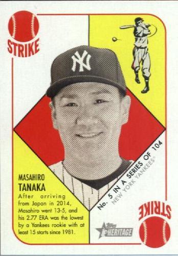 Photo of 2015 Topps Heritage '51 Collection #5 Masahiro Tanaka
