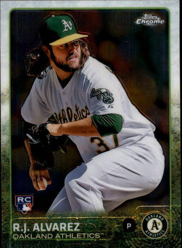 Photo of 2015 Topps Chrome #120 R.J. Alvarez RC