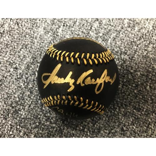 Photo of Kershaw's Challenge: Dodgers Cy Young Winner Ball: Koufax, Kershaw, Valenzuela, Hershiser - Not MLB Authenticated