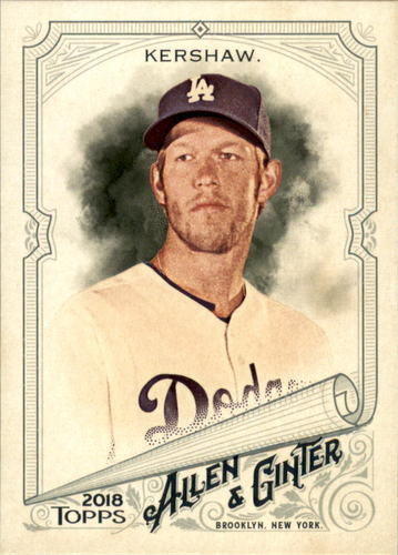 Photo of 2018 Topps Allen and Ginter #280 Clayton Kershaw