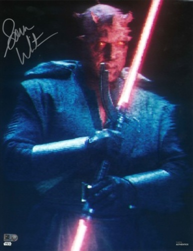 Sam Witwer As Maul 11X14 Autographed in 'Silver' Ink Photo
