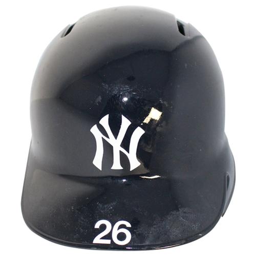 Photo of Andrew McCutchen New York Yankees 2018 Game Used #26 Home Batting Helmet (10/9/2018)