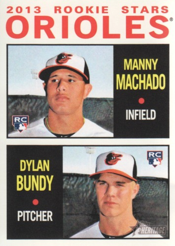 Photo of 2013 Topps Heritage #201 Manny Machado RC/Dylan Bundy