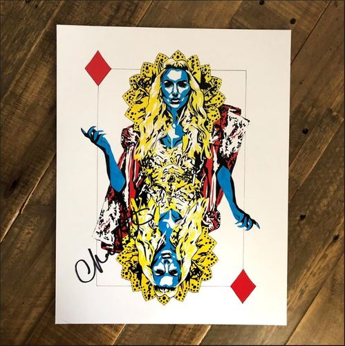 Photo of Charlotte Flair SIGNED 11 x 14 Rob Schamberger Print