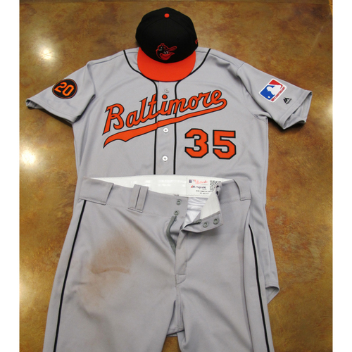 Photo of Baltimore Orioles Game Used 1969 Road Uniform and Cap Turn Back The Clock (6/22/19): Dwight Smith Jr
