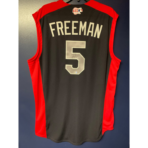 Photo of Freddie Freeman 2019 Major League Baseball Workout Day Autographed Jersey