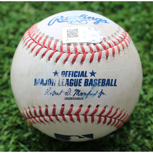 Photo of Game-Used Baseball: Reynaldo Lopez Pitched 289th Career Strikeout (CWS @ KC - 6/9/19)