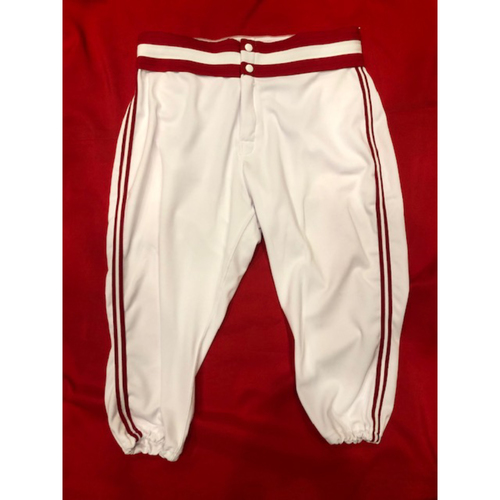 Michael Lorenzen -- Game-Used 1990 Throwback Pants -- Cardinals vs. Reds on Aug. 18, 2019 -- Pants Size 33-41-17