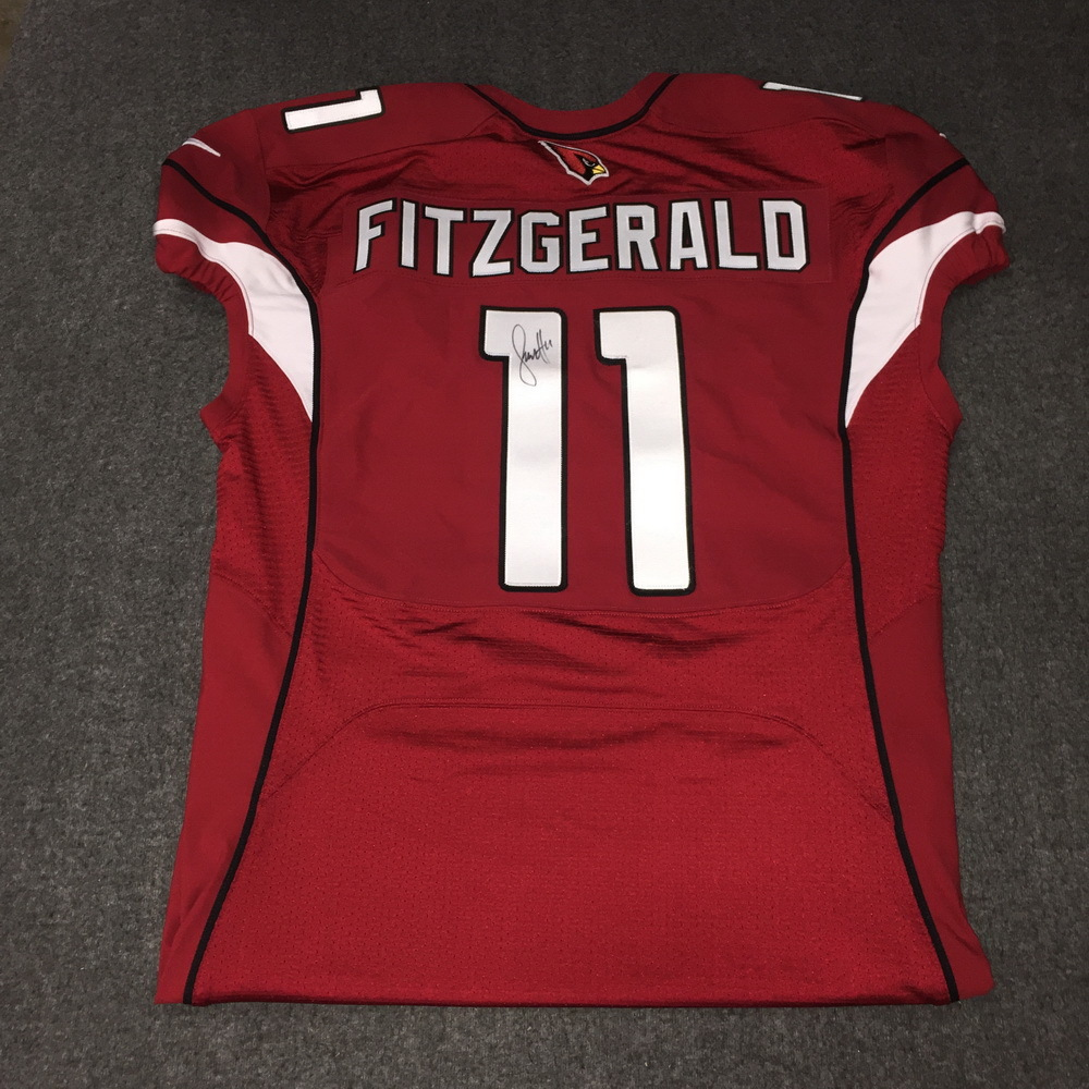 NFL Auction | Cardinals - Larry Fitzgerald Signed Authentic Jersey ...