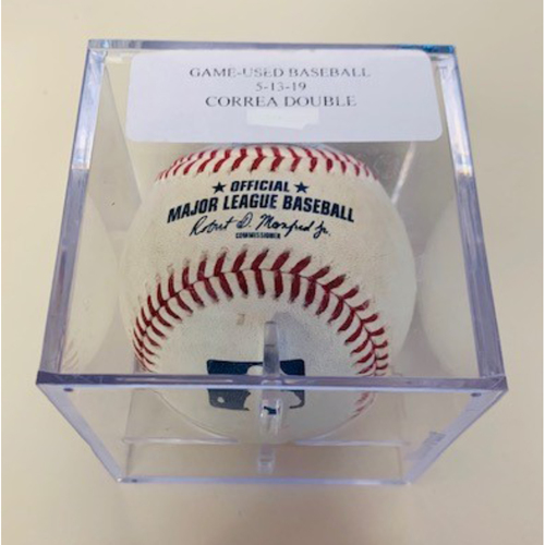 Photo of Game-Used Baseball: Carlos Correa Double