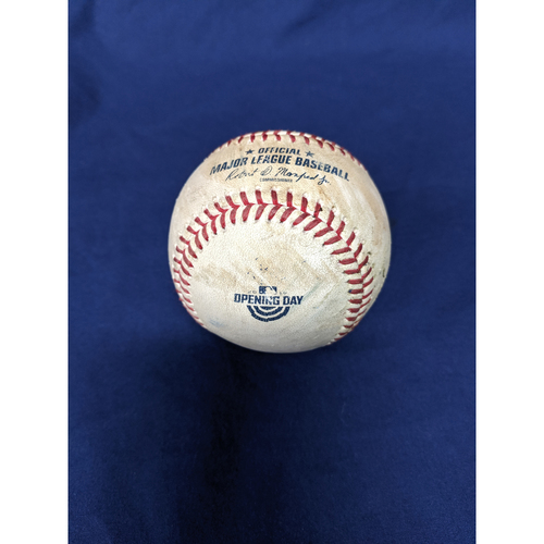 Los Angeles Dodgers Game-Used Baseball: Pitcher: Hyun-Jin Ryu, Batter: Eduardo Escobar (Double) - Top 6 - 3/28/19 vs. ARI