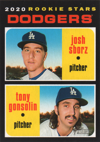 Photo of 2020 Topps Heritage #343 Tony Gonsolin RC/Josh Sborz RC