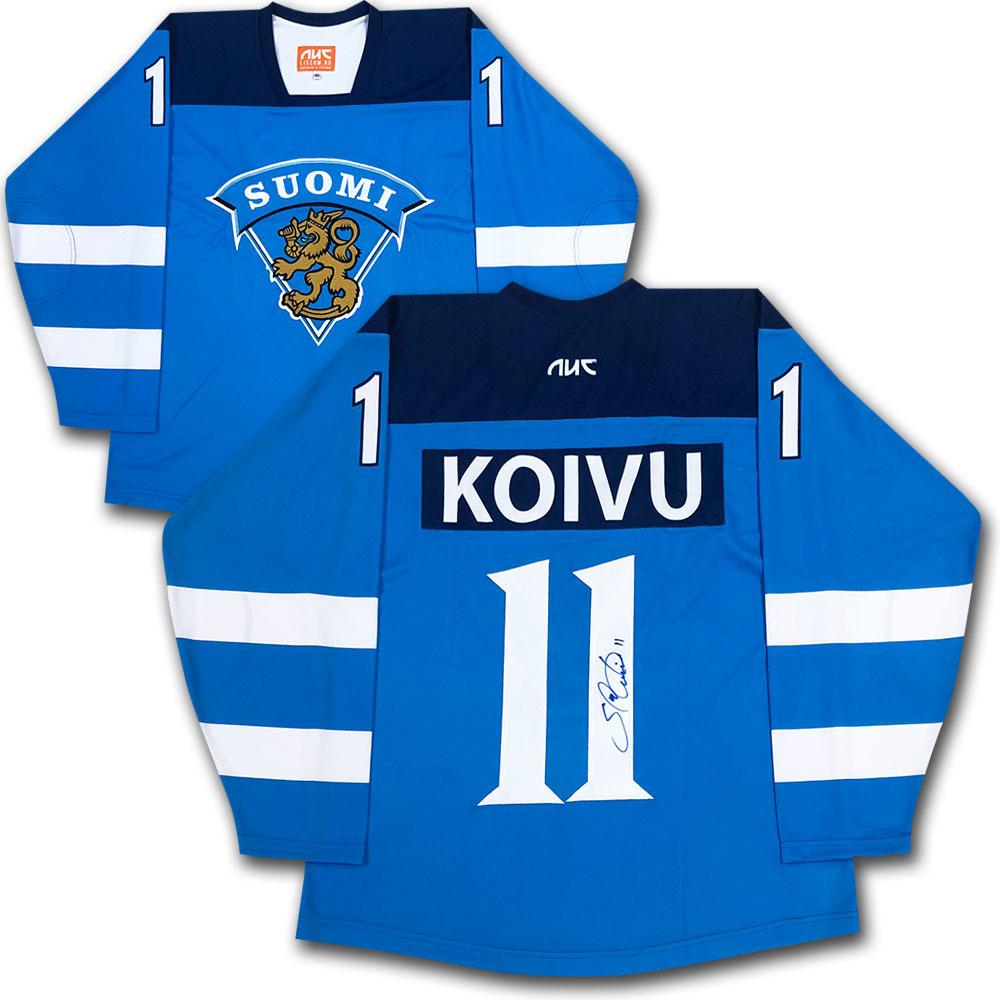Saku Koivu Autographed Team Finland Jersey