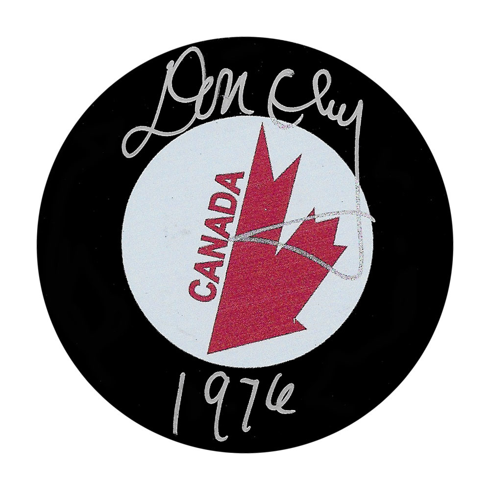 Don Cherry Autographed Team Canada Puck w/1976 Inscription
