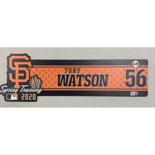Photo of 2020 Spring Training Locker Tag - #56 Tony Watson