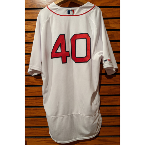 Photo of Marco Hernandez #40 Game Used Home White Jersey