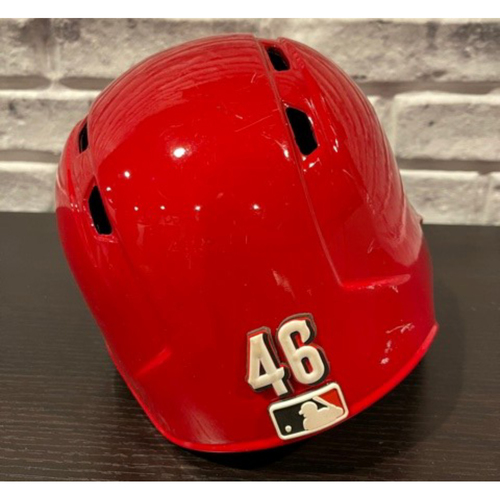 Photo of Kevin Gausman -- Team-Issued Helmet -- Right Ear Flap -- Size 7