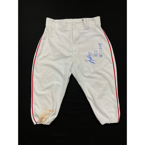 Photo of Joey Votto *Game-Used, Autographed & Inscribed* Pants -- Worn By Joey Votto For 300th Career Home Run -- CHC vs. CIN on 04/30/2021