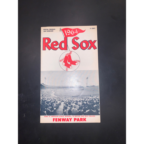 Photo of Minnesota Twins at Boston Red Sox May 14, 1964 Official Program and Scorecard