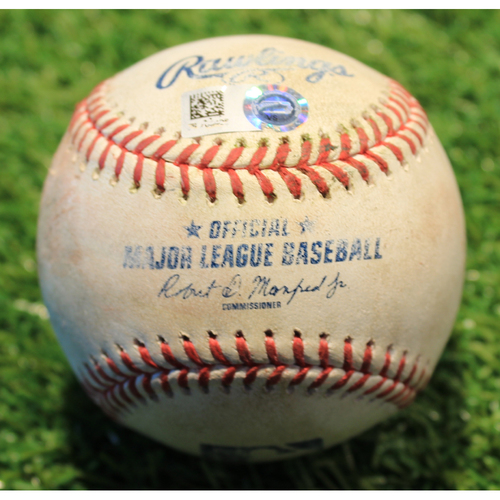 Game-Used Baseball: 2 RBI Double from Whit Merrifield's Record Setting 422nd Consecutive Game Played