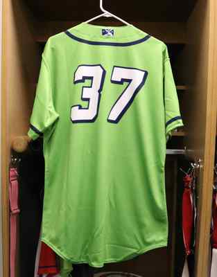 Stockton Ports George Bell Asparagus jersey, #37, Size 44