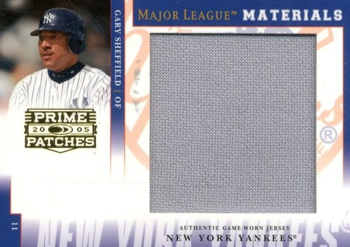 Photo of 2005 Prime Patches Major League Materials Jumbo Swatch #46 Gary Sheffield/346