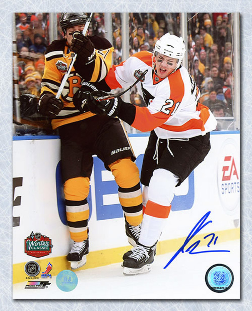 James van Riemsdyk Philadelphia Flyers Autographed 16x20 Photo