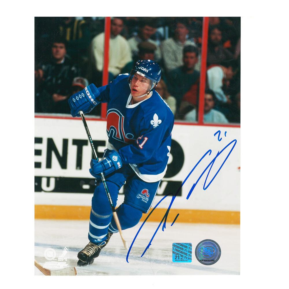 PETER FORSBERG Signed Quebec Nordiques 8 X 10 Photo - 70075