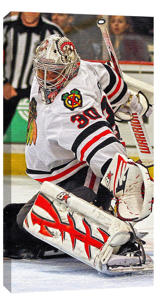 Emery,R Unsigned 14x28 Canvas Blackhawks White Jersey