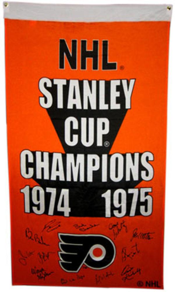TEAM SIGNED Philadelphia Flyers SIGNED Banner