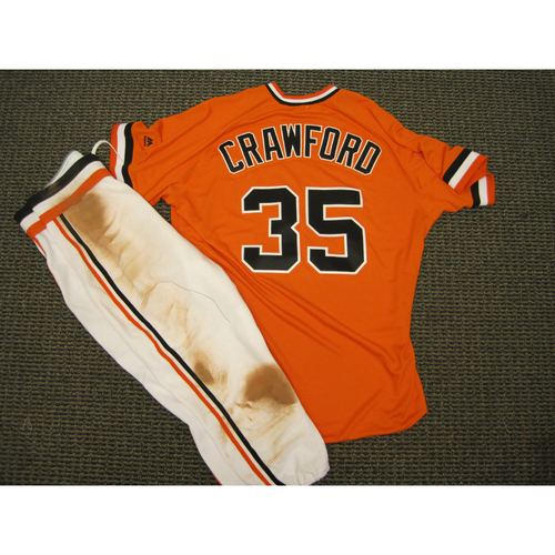 brand new df1f1 7eb4c MLB Auctions | San Francisco Giants 2016 Brandon Crawford ...