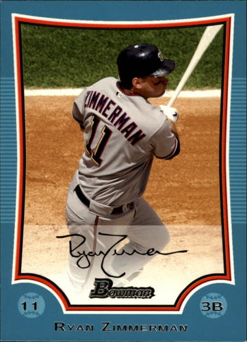 Photo of 2009 Bowman Blue #152 Ryan Zimmerman 426/500