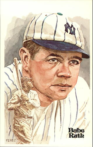 Photo of 1980-02 Perez-Steele Hall of Fame Postcards #4 Babe Ruth -- HOF Class of 1936