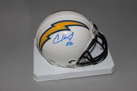 CHARGERS - CASEY HAYWARD SIGNED CHARGERS MINI HELMET (SMUDGED SIGNATURE)